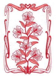 Spring Bloom Art Nouveau Set, 10 Designs - 5x7 | What's New | Machine Embroidery Designs | SWAKembroidery.com