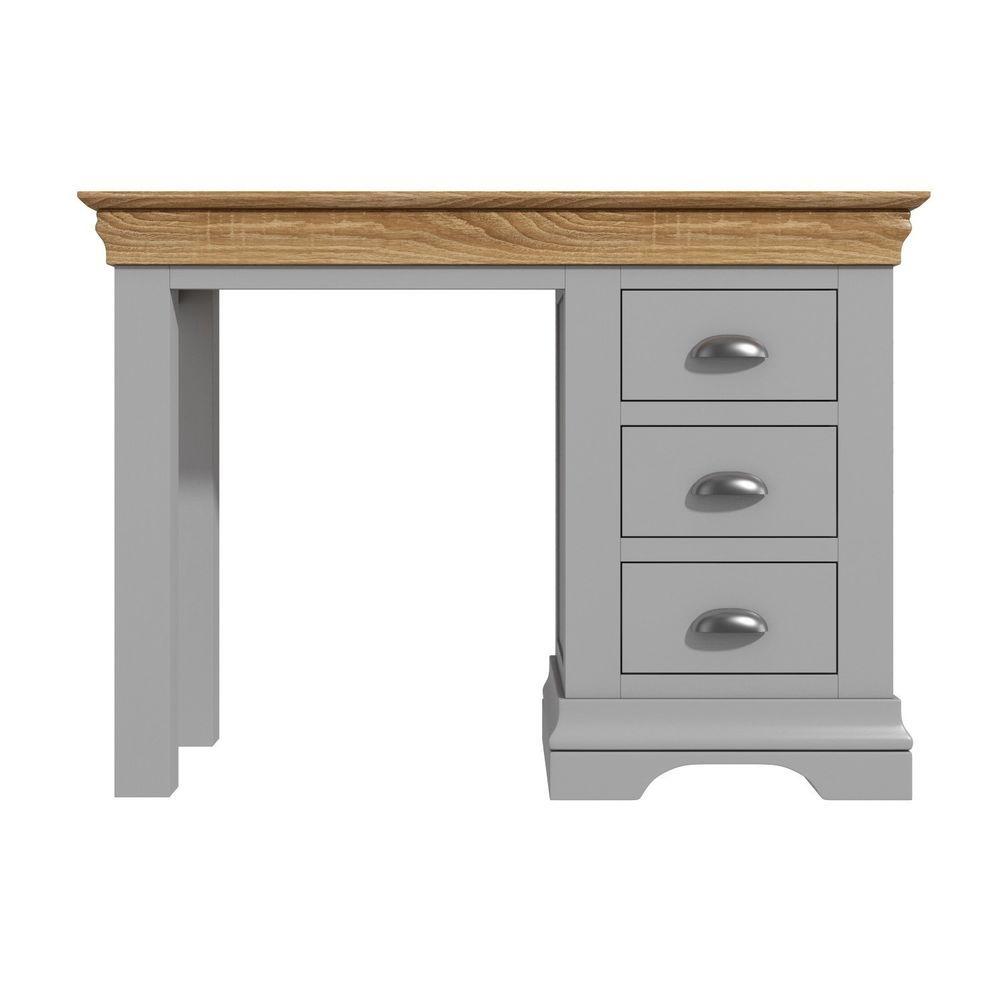 Office desk workstation honey oak soft grey oak acacia wood study home furniture