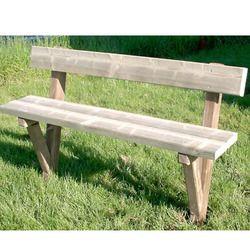 BancDeJardinBancDeVille tout bois Forestier, 3 lames bois, longueur ...