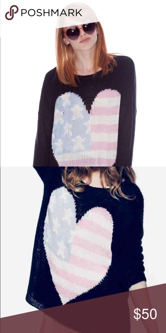 6d3757c9 WILDFOX American Heart Bill Sweater Baggy Black XS Wildfox Bill ...