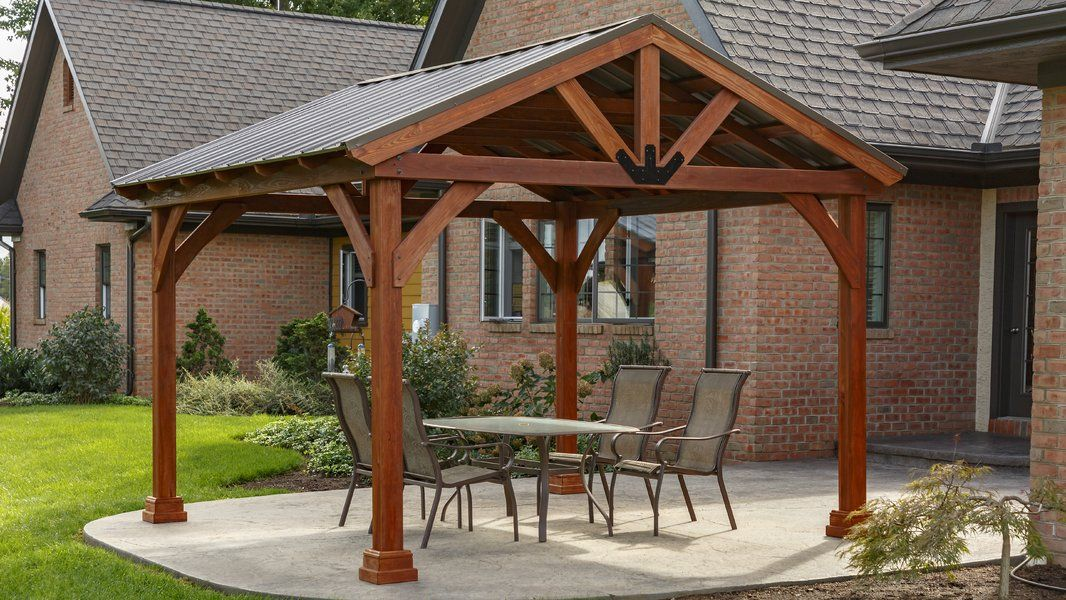 Westmont 11 Ft W X 11 Ft D Solid Wood Patio Gazebo Patio Gazebo Gazebo Pergola Patio