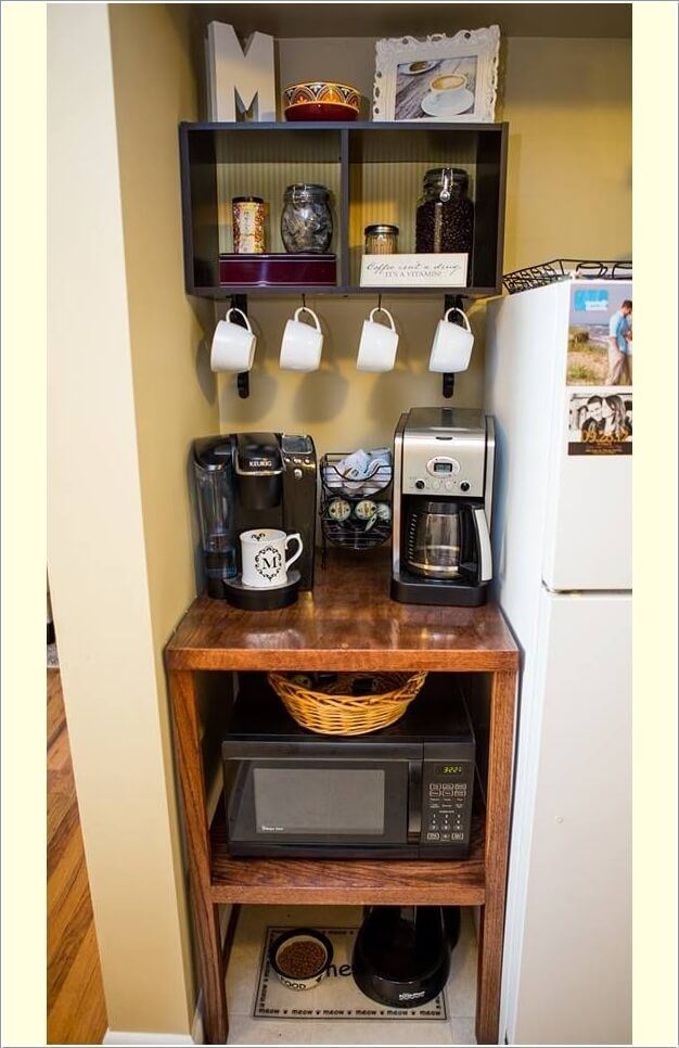 DIY Coffee Bar Ideas For Your Home Stunning Pictures Coffee - Office coffee station table