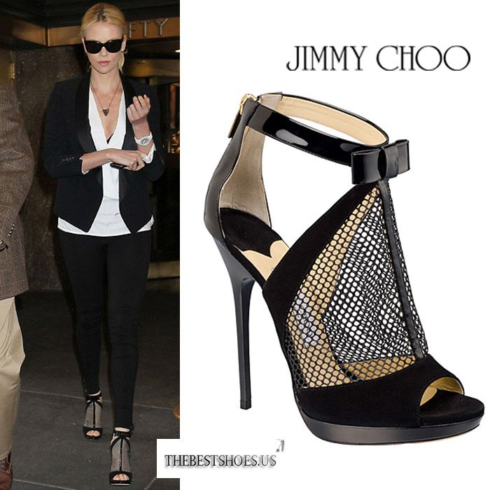 Charlize Theron in Jimmy Choo Callie peep-toe sandals [CELE007] - $230.00 : Discounted Christian Louboutin,Jimmy Choo,Valentino Shoes Online store