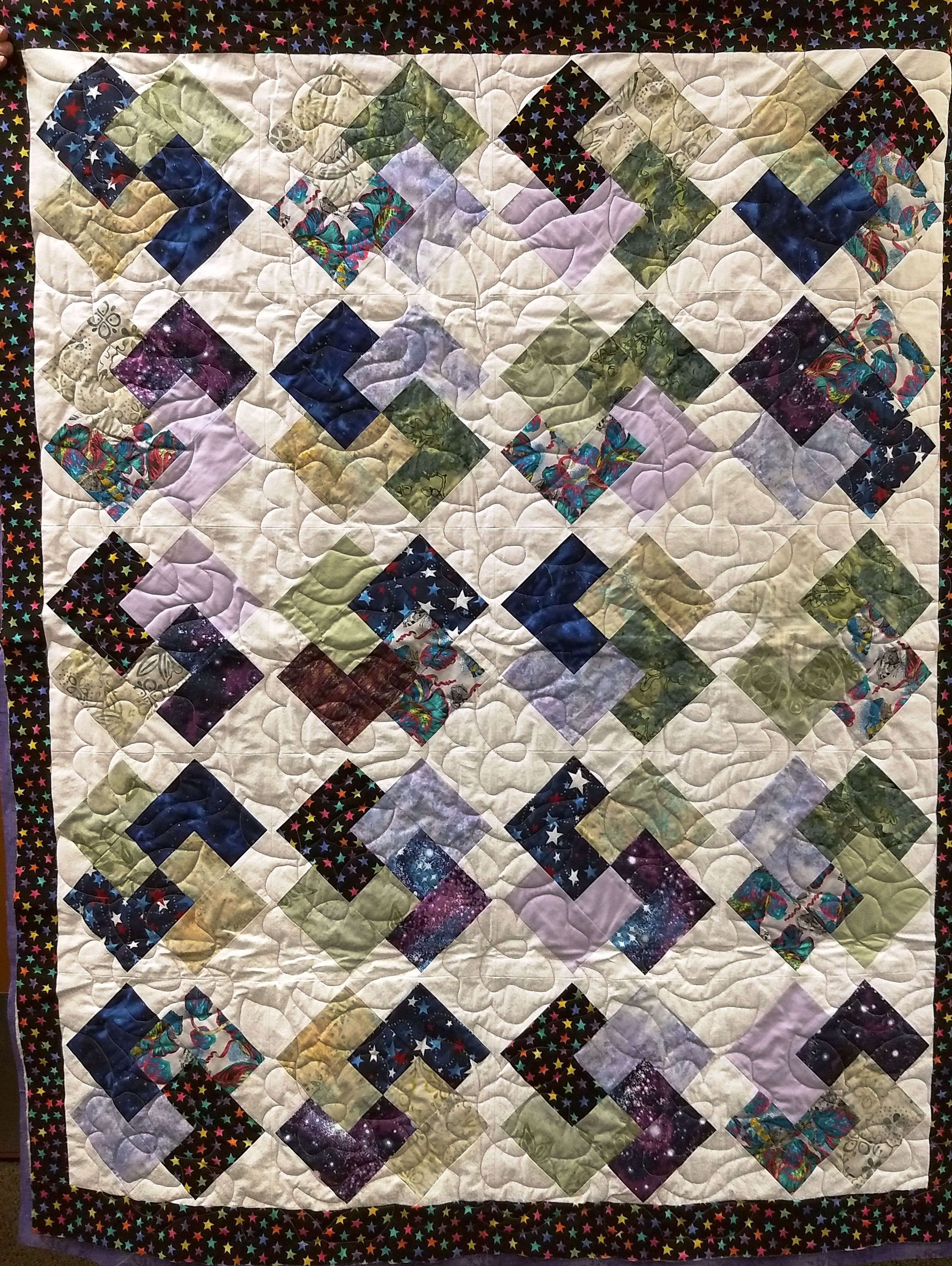 A Card Trick Quilt Is On My Bucket List Of Patterns To Make Quilts Card Tricks Triangle Quilt