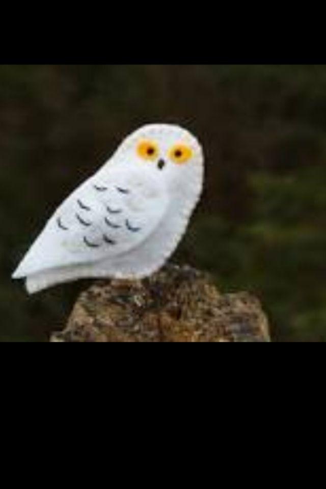 White felt owl  Felt  Pinterest  Felt owls Felting and Owl