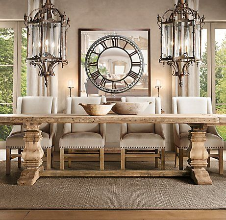 love the clock mirror and the giant lights for the home
