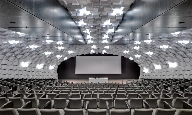 Faculty of economics commerce lighting design by electrolight