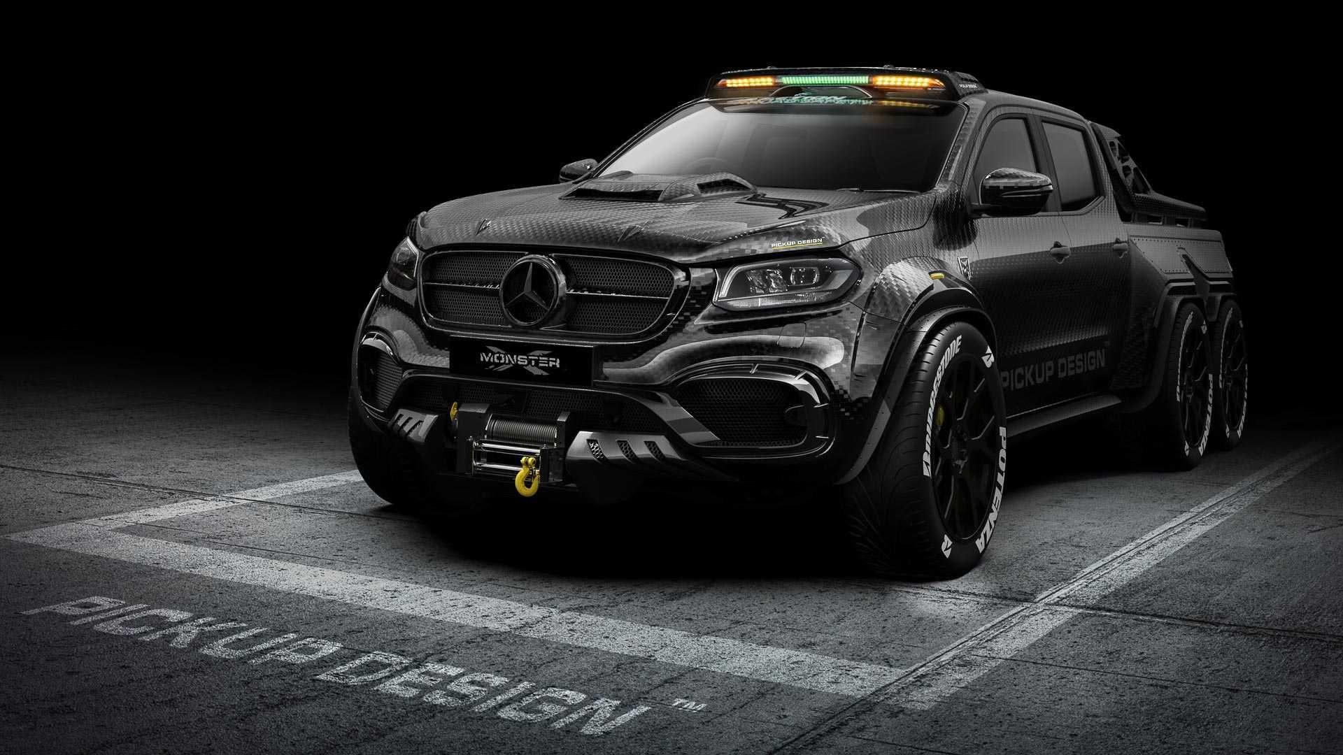 6 Wheel Mercedes X Class Custom Is Pickup Of Your Nightmares Mercedes Truck Pickup Trucks Chevy Trucks
