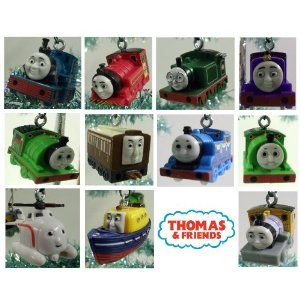 Thomas The Train Christmas Set.Unique Set Of 14 Thomas The Train Christmas Tree Ornaments