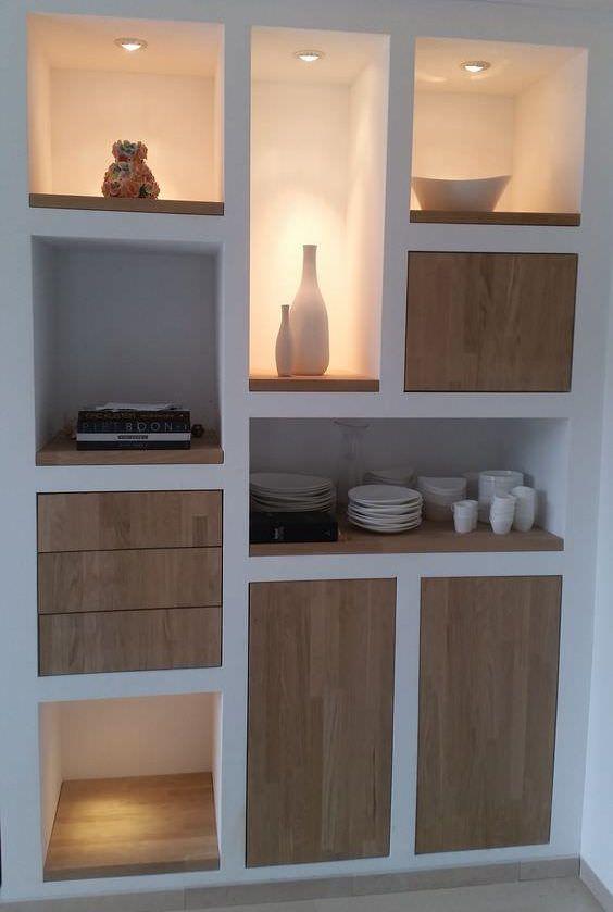 Realizziamo pareti attrezzate moderne in cartongesso per qualsiasi tipo di stanza, in particolare per cucine e soggiorni. Libreria In Cartongesso La Guida Definitiva 2020 Foto Video Minimalist Home Furniture Minimalist Home Interior