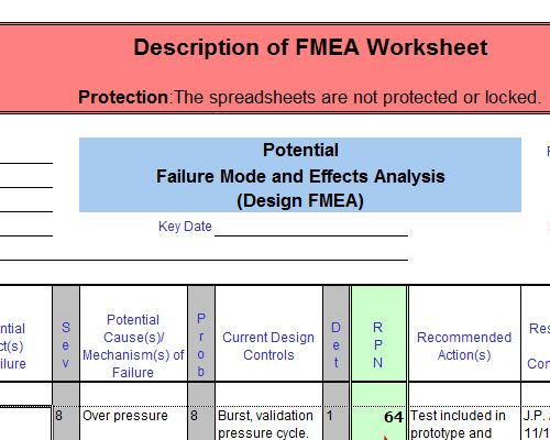 Fmea Product Example Excel Pinterest Sample Resume Resume And