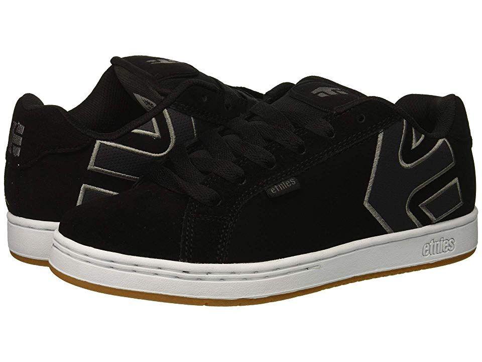 Navy Etnies Fader Shoes Black Grey