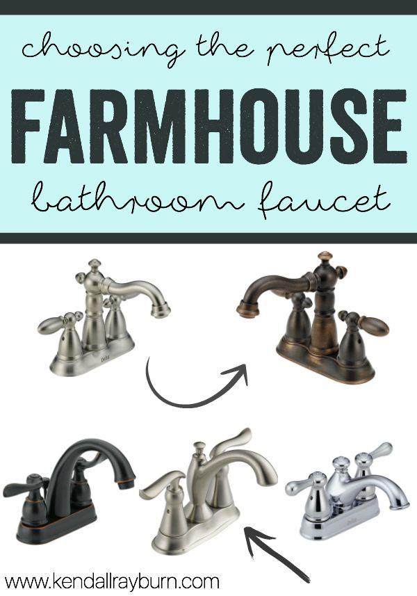 farmhouse faucet - Choosing the perfect bathroom faucet!   Faucet ...