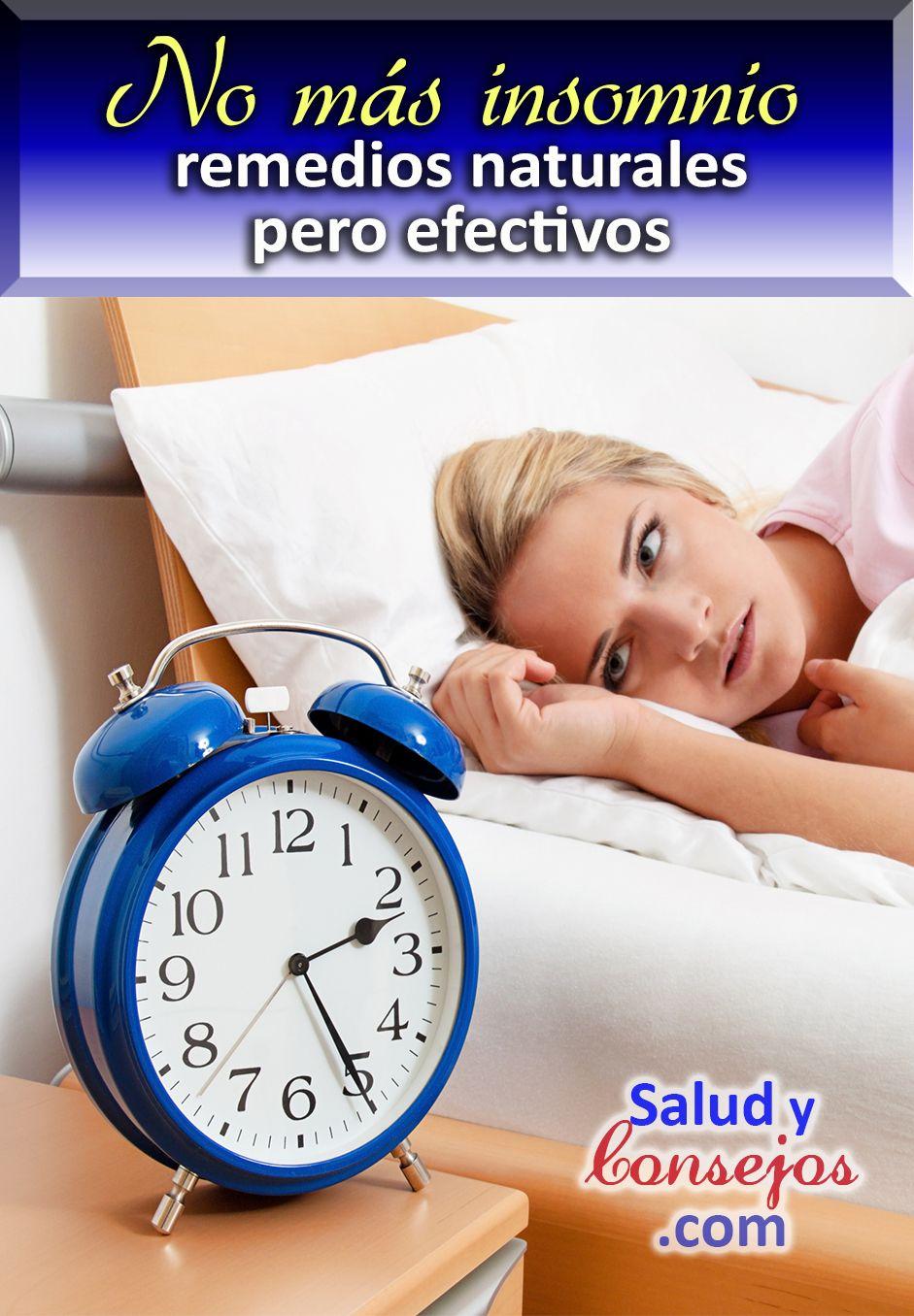 Remedios naturales para combatir el insomnio