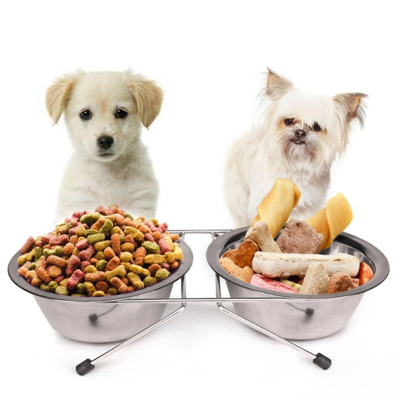 Dog Bowl Stainless Steel Pet Dog Cat Puppy Travel Feeding Feeder Double Food Bowl Water Dish Accesorios Para Perros Dog Food Recipes Food Bowl Dog Food Online