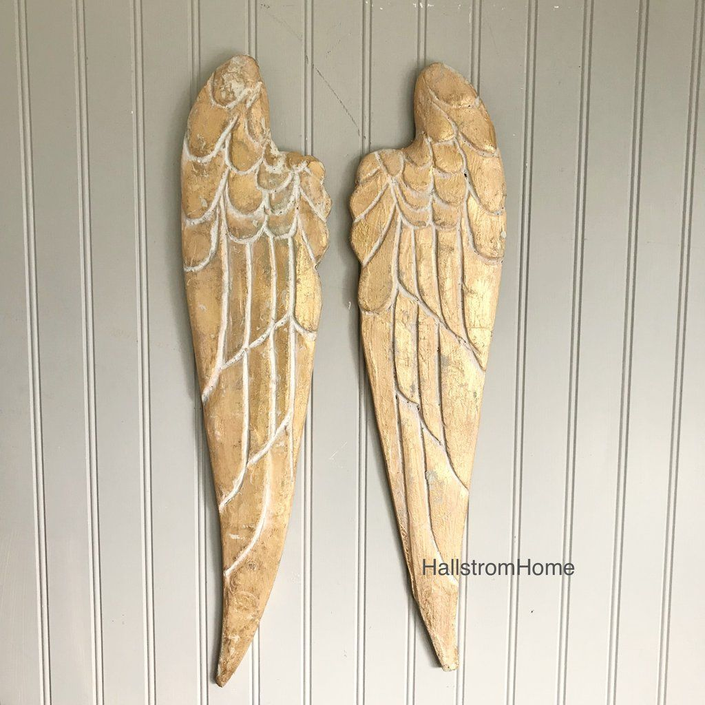 Modern Large Angel Wings Wall Decor Crest - The Wall Art Decorations ...