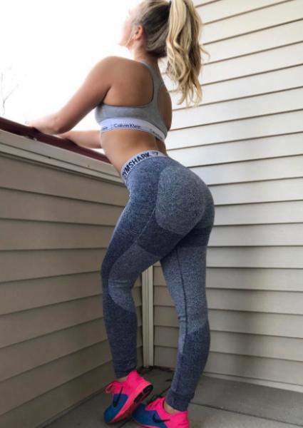 2 girls in yoga pants