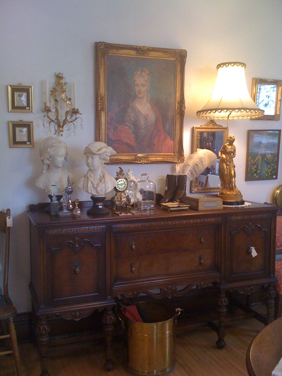 Victorian Decor Busts Intricatevlamps Gilded Frames