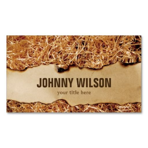 Distressed Burnt Papyrus Classic Business Card Classic Business