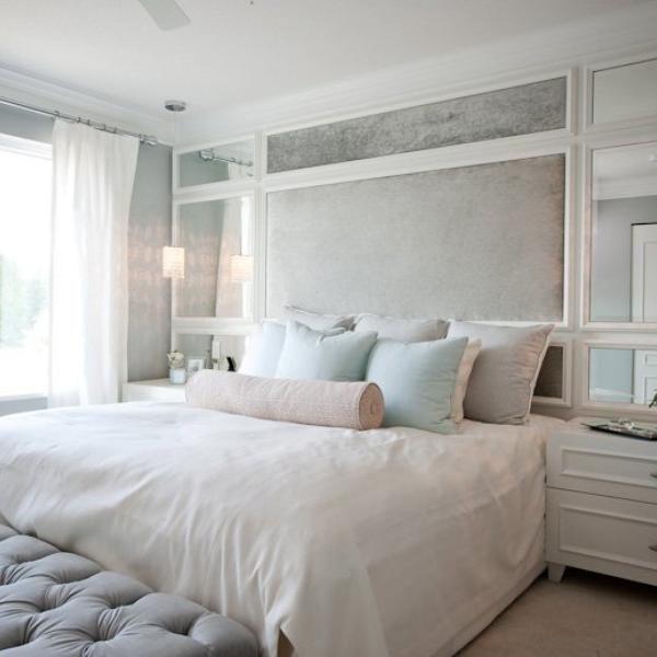 Resultado De Imagen De Cabeceros Con Espejo Guest Bedroom Guest Bedroom Inspiration Small Bedroom