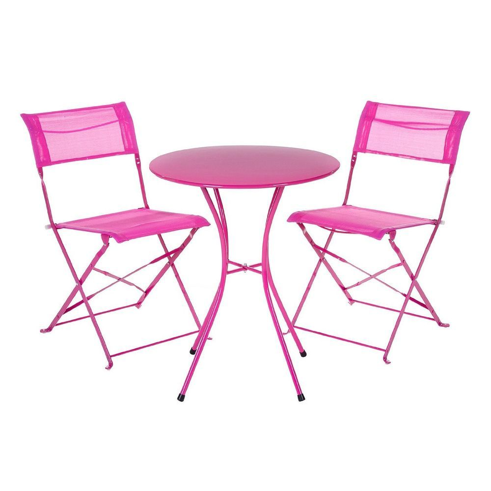 Pink Garden Table And Chair Set