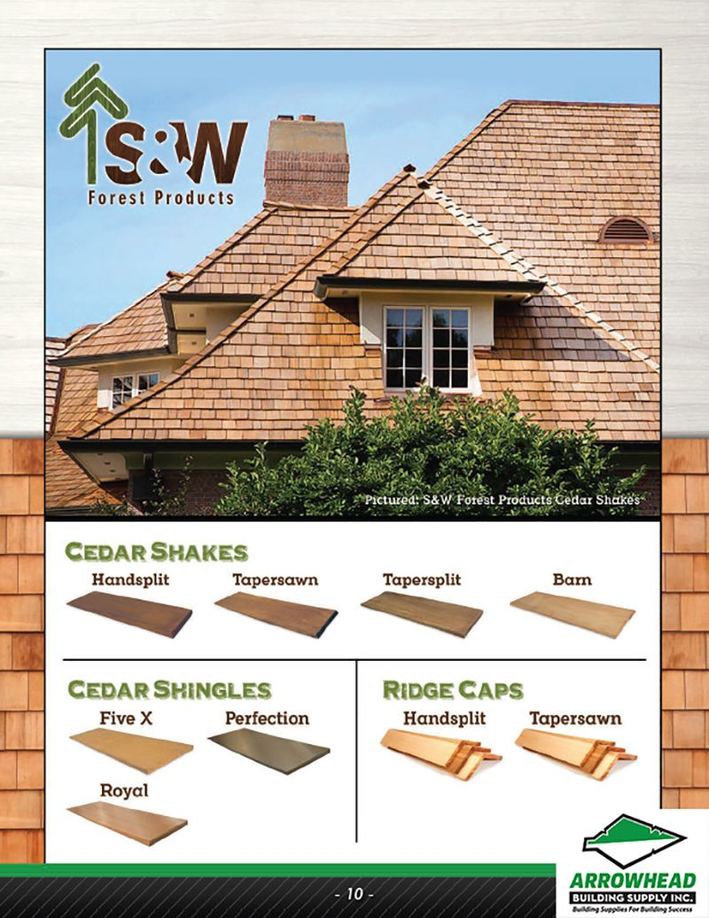 Roofing Materials And Shingles To Buy Arrowhead Building Supply Shingling Cedar Shake Roof Roofing Options
