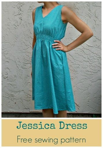 FREE SEWING PATTERN: Jessica dress - On the Cutting Floor: Printable ...