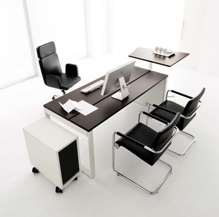 stylish modern modular office furniture design. Modern Office Chair With Fashionable Arms Combined Rectangle Black Sleek Desk Set In The Middle Stylish Modular Furniture Design T