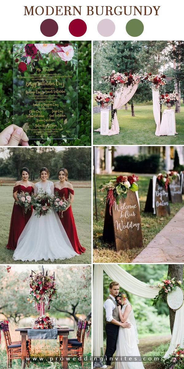 Acrylic Floral Wedding Invitation with Gold Foil Boho Clear Wedding Invitations PWIA004
