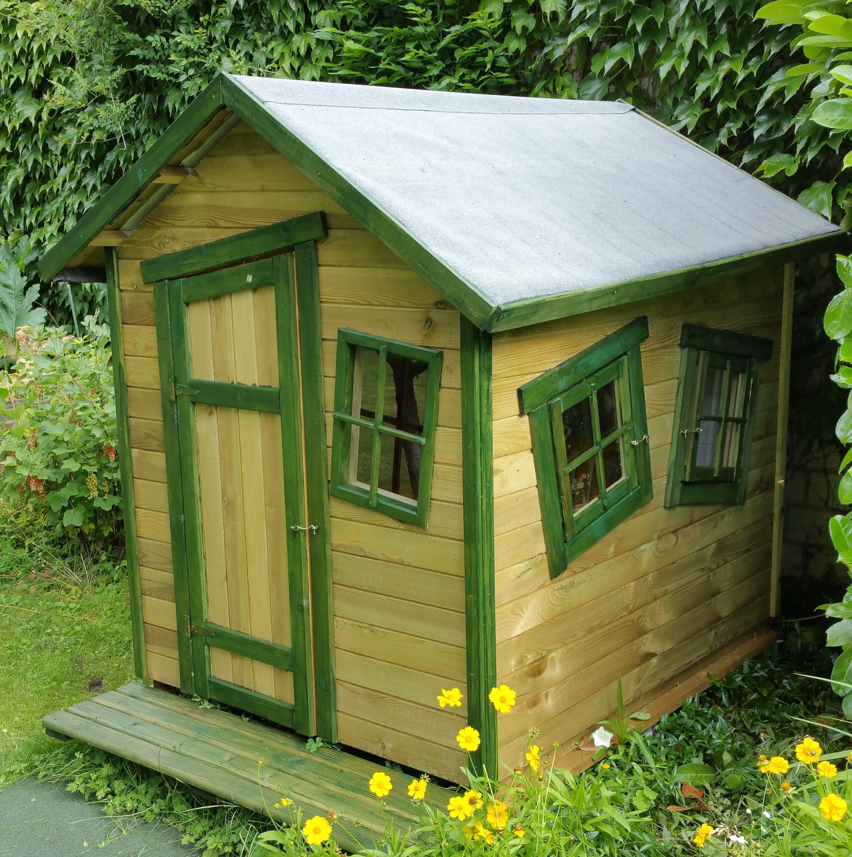 Spielhaus MarieFun Spielhaus 150 x 120 cm aus Holz (mit