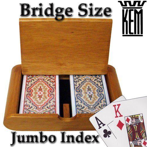 Kem Paisley Narrow Jumbo 100% Plastic Playing Cards in Wooden Box by KEM. $29.99. Kem Paisle1 Narrow Jumbo