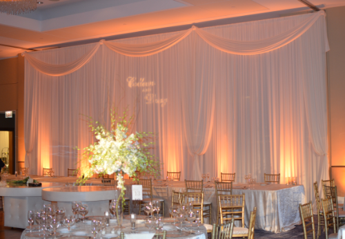 pipe drape wedding backdrop | decor design | Pinterest | Backdrops ...