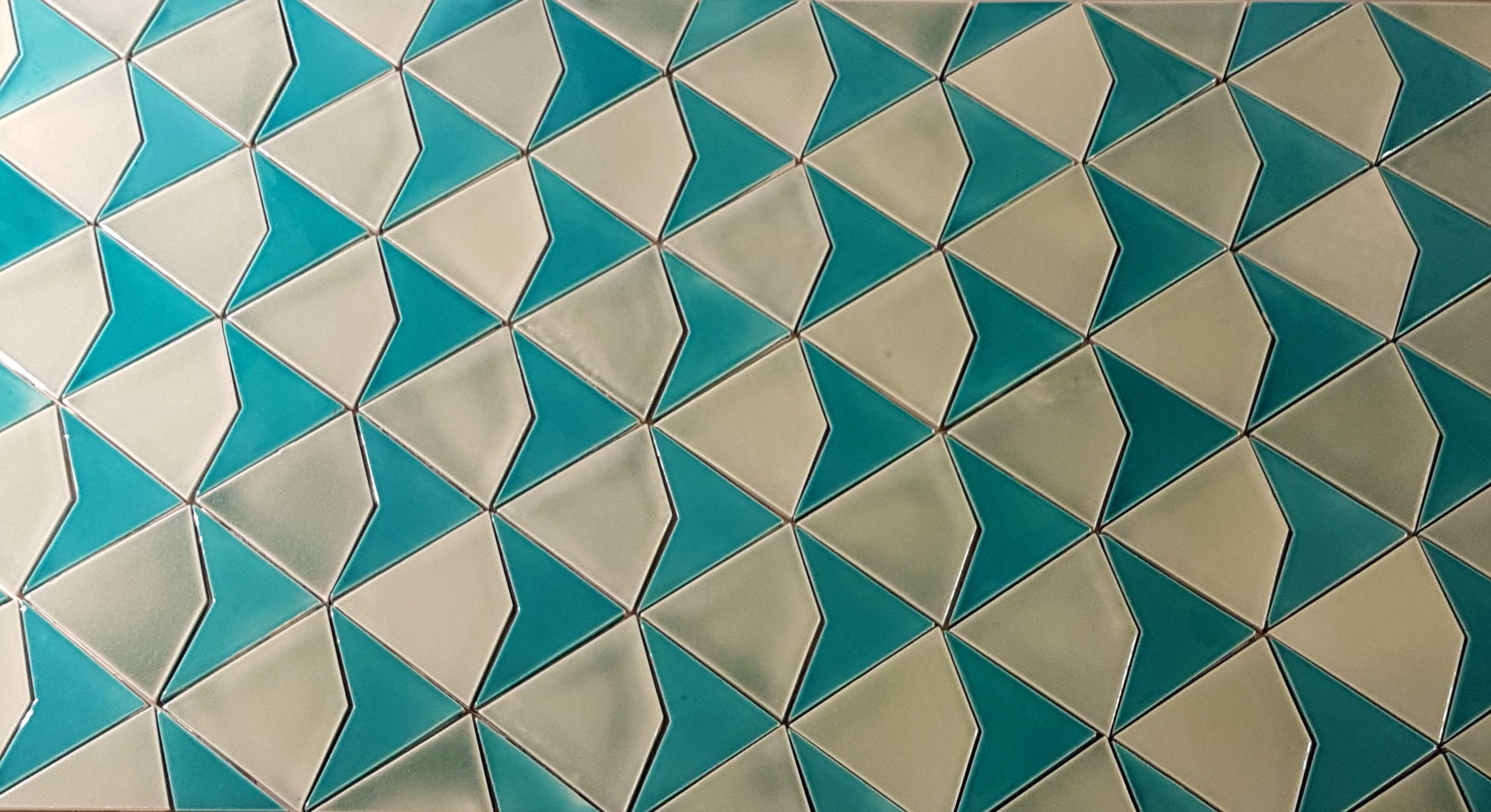 Carrelage retro art déco inspiration Penrose fleche cerf volant