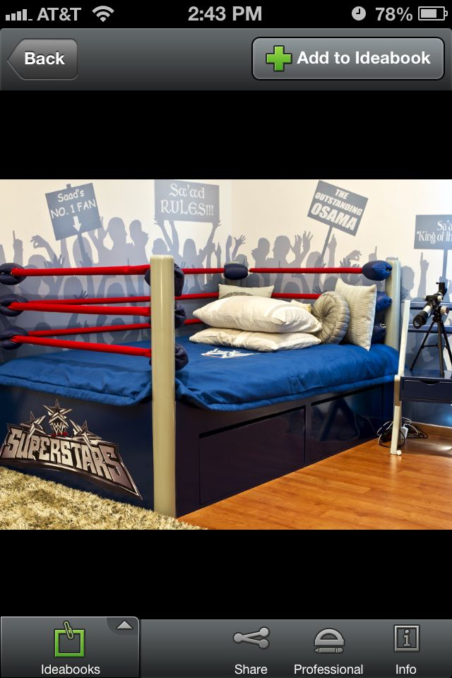 Wwe Bedroom Decor: Boxing Ring Bed