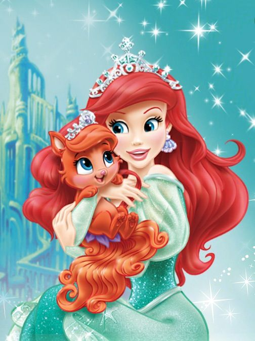 Ariel And Pet Cat Treasure Disney Princess Palace Pets Disney