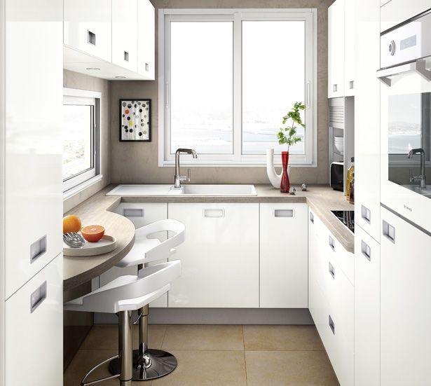 conception petite cuisine en l design de maison. Black Bedroom Furniture Sets. Home Design Ideas