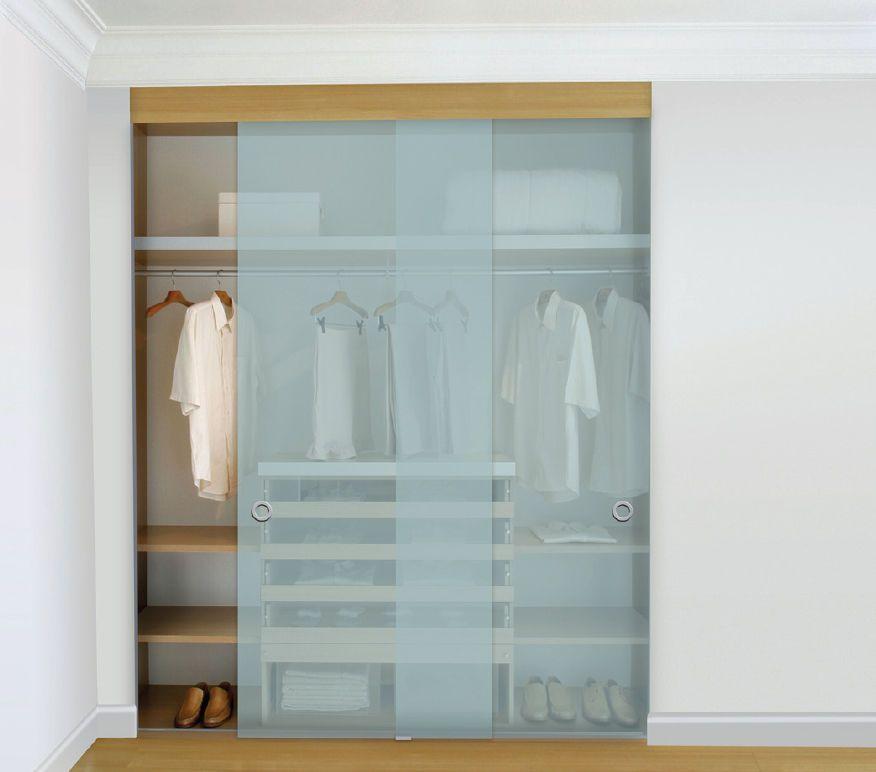 Puerta corredera de cristal para vestidor para armario clos glass klein europe puertas - Puertas correderas de cristal para armarios ...