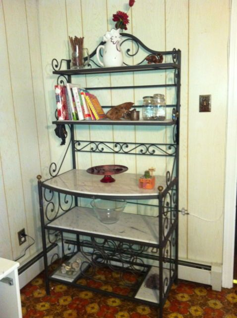 You Can Always Add Marble Or Wood Shelves To Your Bakers Rack