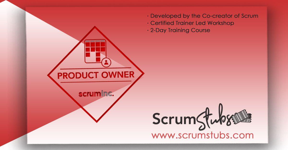 Product Owner Product Manager Popm Professional Trainers Scrum Stubs Agile Development Portfolio Management Lean Enterprise
