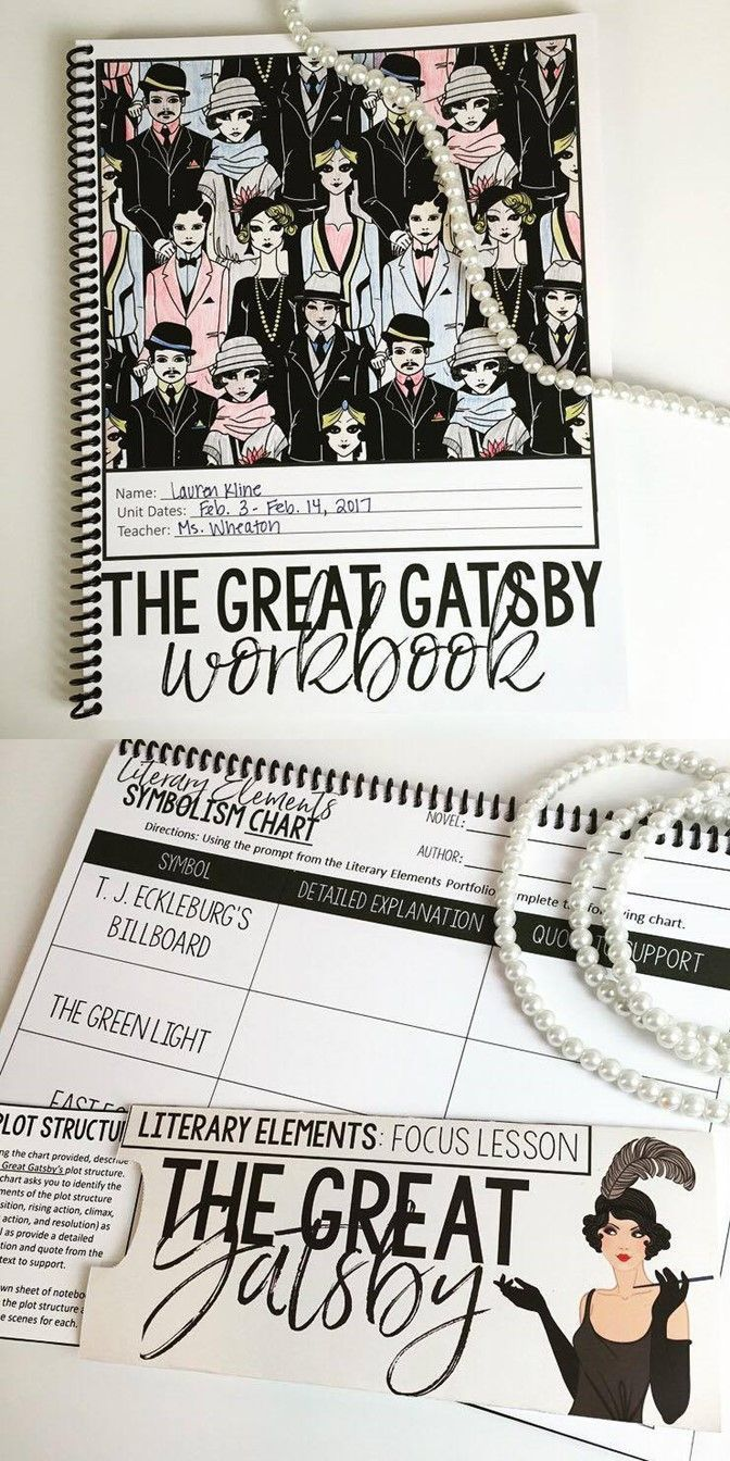 The Great Gatsby Unit: Interactive Workbook | High School