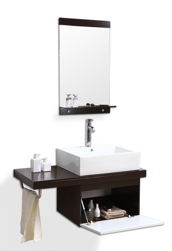 Meuble de salle de bain  vasque, meuble sous-vasque et miroir