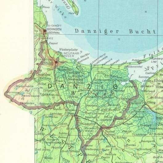 danzig karte Karte: Freie Stadt Danzig   Freie Stadt Danzig   Danzig