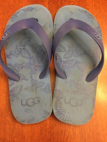 Ugg Blue Flip Flops 2 Girl Butterflies Sandals Water Beach Pool Shoes No Slip - http://shoes.goshoppins.com/girls-shoes/ugg-blue-flip-flops-2-girl-butterflies-sandals-water-beach-pool-shoes-no-slip/