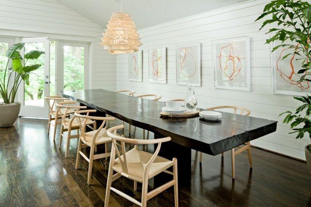 Table en bois massif brut- 28 tables à manger rustiques   Office ...