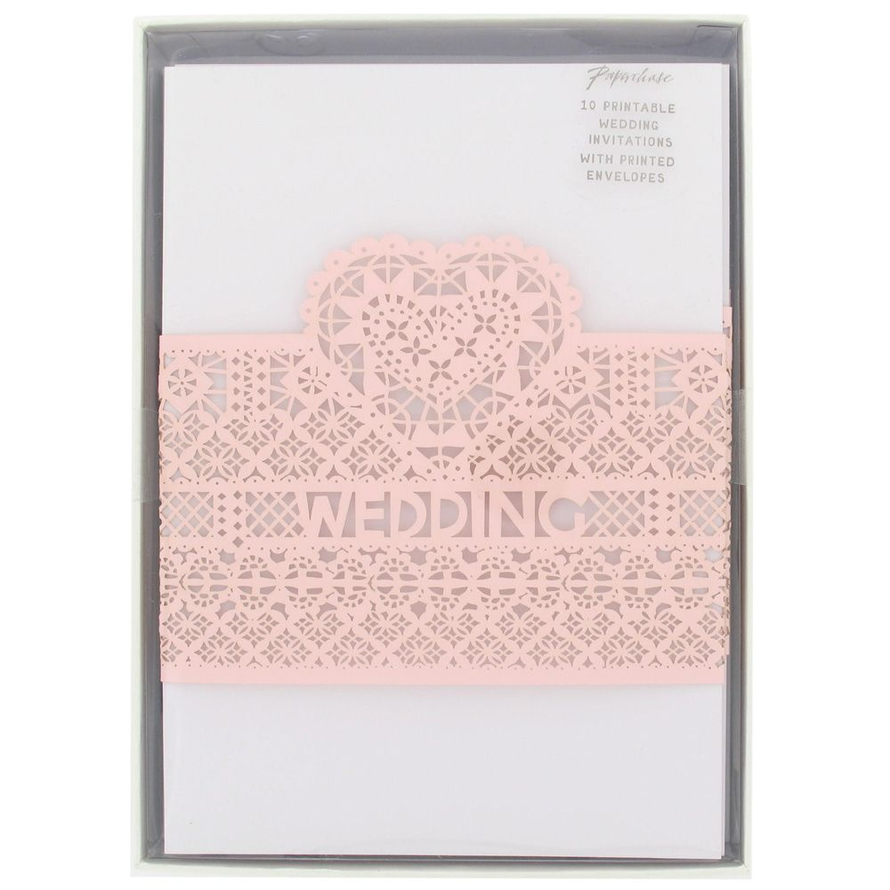 Paperchase laser cut heart wedding invitations pack 10 | A scrap ...