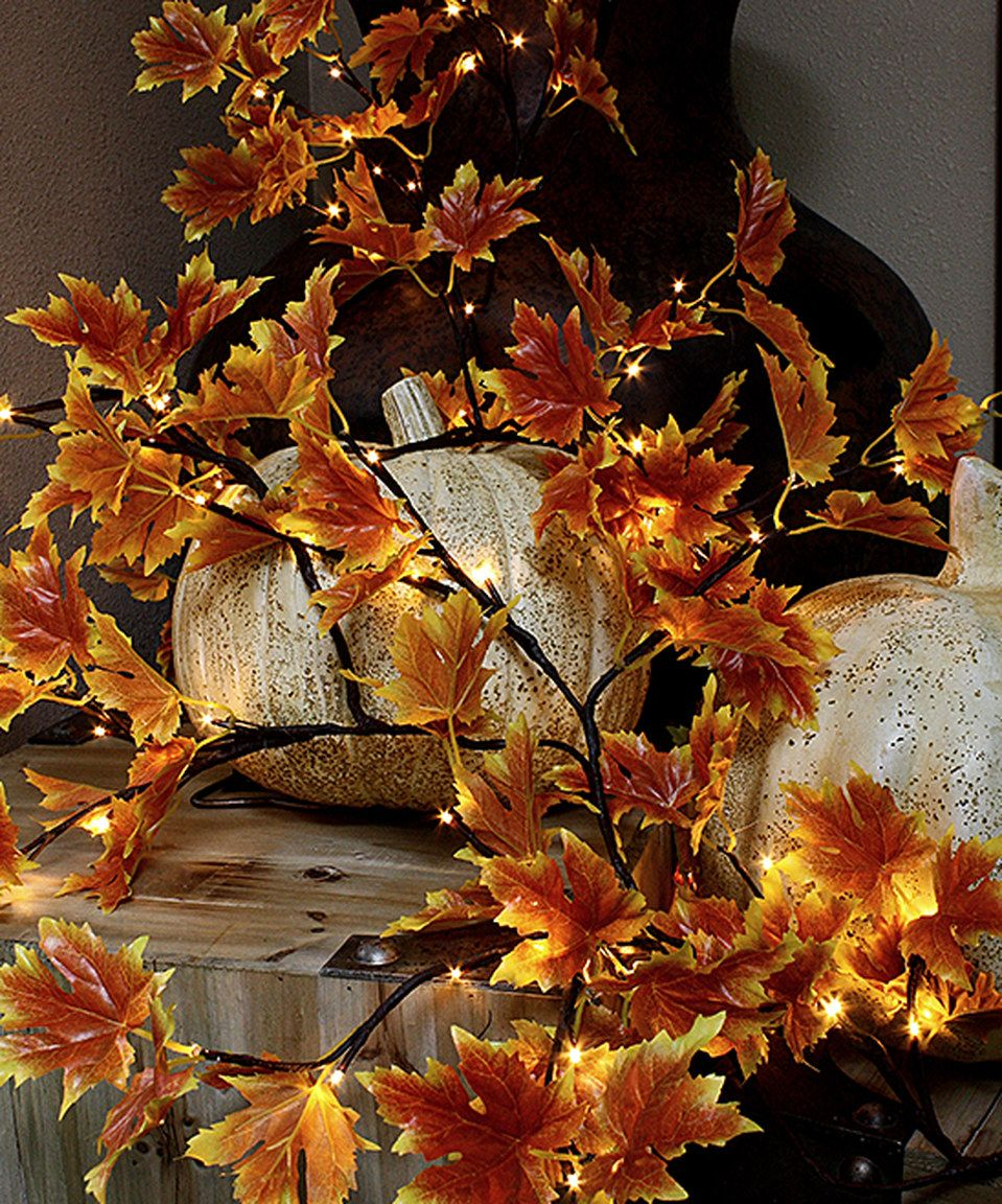Love this Orange-Leaves LED Garland by The Light Garden on #zulily ...