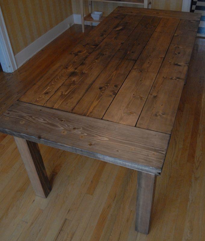 DIY Farmhouse Table Finish
