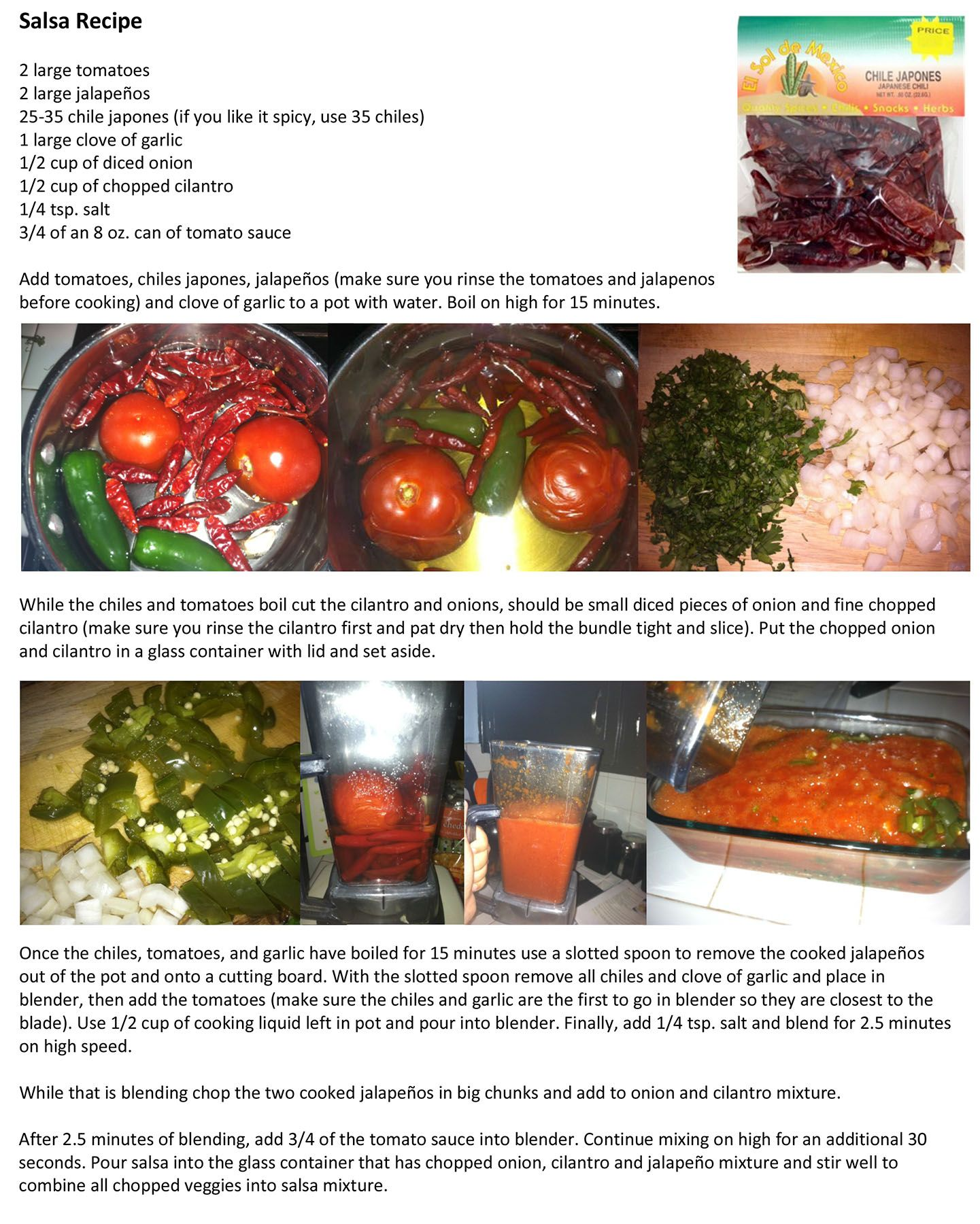 My Recipe For Salsa Hecha Con Chile Japones My Husband S Favorite Hot Sauce Recipes Southwestern Recipes Mexican Food Recipes