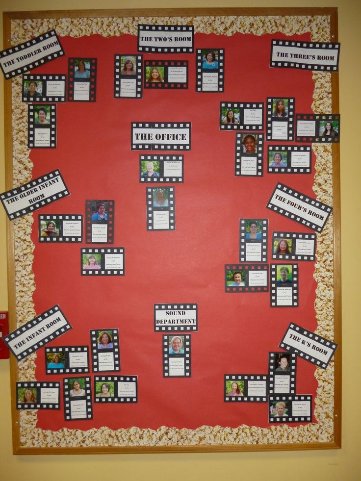 Staff Bulletin Boards For School | Movie Credit Theme Staff Bulletin Board.  For After   To Display The .