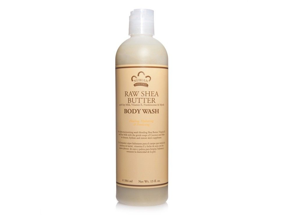 An ultra-moisturizing body wash blending Organic Shea Butter, Vitamin E and Soy Milk with Coconut and Palm Oils cleanses, hydrates and restores skin's suppleness.  Leaves skin clean and moisturized.